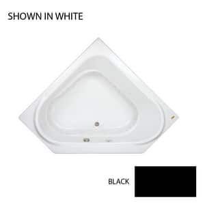 JACUZZI® Capella® 60 x 60 in. Acrylic Corner Drop-In Air Bathtub with Right Drain and J2 Basic Control in Black JCAP6060ACR2XXB