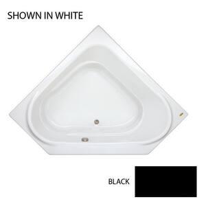JACUZZI® Capella® 60 x 60 in. Soaker Corner Bathtub in Black JCAP6060BCXXXXB