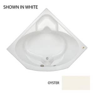 JACUZZI® Capella® 55 x 55 in. Soaker Corner Bathtub in Oyster JCAP5555BCXXXXY