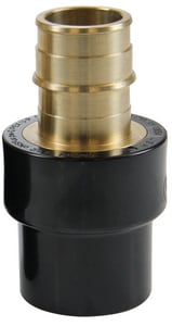 Uponor ProPEX® 1-1/2 x 1-1/2 in. Brass PEX x CPVC Socket Adapter UCP451