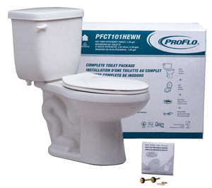 PROFLO® 1.28 gpf Elongated ADA Two Piece Complete Toilet in White (Seat, Wax Ring & Supply Bolts Included) PFCT103HEWH