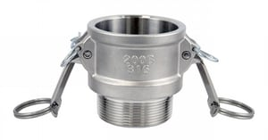 FNW® 3/4 in. Female Coupler x MNPT Type B 316 and CF8M Stainless Steel Adapter FNWCGBSSF