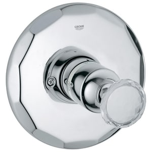 Grohe Kensington Single Handle Bathtub and Shower Faucet in Chrome Swarovski Crystal (Trim Only) G19268VP0