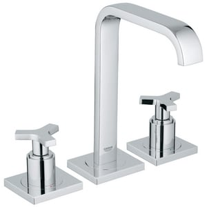 Grohe Allure Two Handle Widespread Bathroom Sink Faucet in StarLight Polished Chrome G2014800A