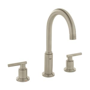 GROHE® Atrio Two Handle Widespread Bathroom Sink Faucet in StarLight Brushed Nickel Handles Sold Separately G20069
