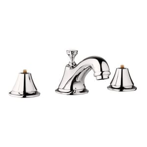 Grohe Seabury Two Handle Widespread Bathroom Sink Faucet in StarLight Polished Chrome G20800BEA