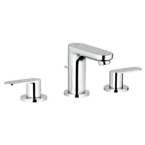 GROHE® Eurosmart Cosmopolitan Two Handle Widespread Bathroom Sink Faucet in StarLight Polished Chrome G2019900A