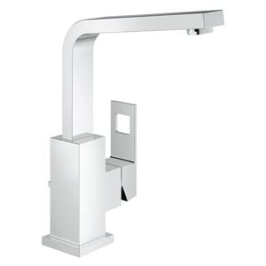 Grohe Eurocube Single Handle Vessel Filler Bathroom Sink Faucet in StarLight Polished Chrome G2318400A
