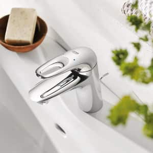 GROHE® Eurostyle Single Handle Monoblock Bathroom Sink Faucet in StarLight Polished Chrome G23577003