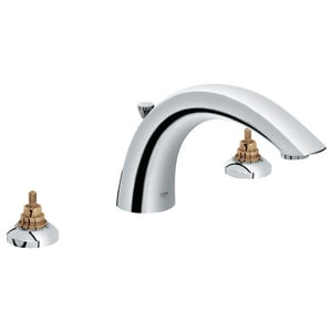 GROHE® Arden™ 13.2 gpm 3-Hole Roman Tub Filler with Double-Handle in Starlight Polished Chrome G25071000