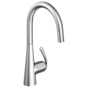 GROHE® Ladylux™3 Pro High Arc Pull-Down Kitchen Faucet with Single Lever Handle in RealSteel G32226SD0