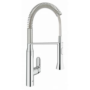 Grohe K7 Single Handle Pull Down Sensor Kitchen Faucet in StarLight® Chrome G30314000
