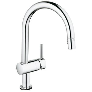 GROHE Minta Single Handle Pull Down Kitchen Faucet in StarLight® Chrome G31378
