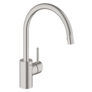 Grohe Concetto® 2.2 gpm Single Lever Handle Deckmount Kitchen Sink Faucet 360 Degree Swivel Spout 3/8 in. Compression Connection G326651