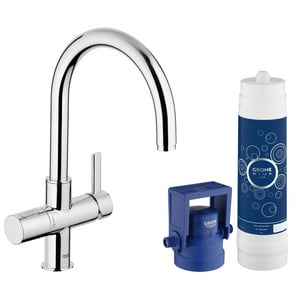 GROHE® Blue® Single Handle Centerset Kitchen Faucet in StarLight Polished Chrome G31312001