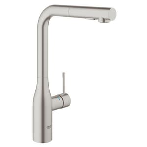 GROHE® Essence® Single Handle Monoblock Pull Down Kitchen Faucet in SuperSteel Infinity G30271