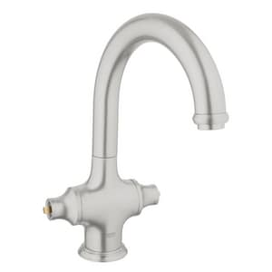 Grohe Bridgeford™ 1-Hole Kitchen Mixer Faucet with Double Lever Handle in SuperSteel Infinity G31055DC0