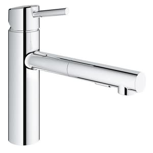Grohe Concetto® Single Handle Pull Out Kitchen Faucet in StarLight® Chrome G31453001