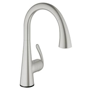 Grohe Ladylux™ Single Handle Pull Down Sensor Kitchen Faucet in SuperSteel Infinity™ G302051