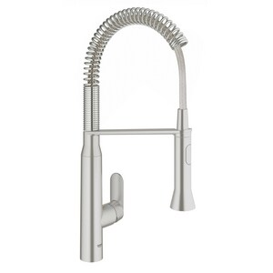 Grohe K7 Single Handle Pull Down Sensor Kitchen Faucet in SuperSteel Infinity™ G30314DC0