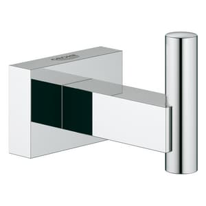 GROHE® Essentials Cube 1 Robe Hook in StarLight Chrome G40511001