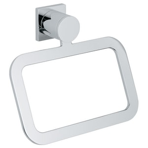 GROHE Allure Rectangular Closed Towel Ring in StarLight Chrome G40339000