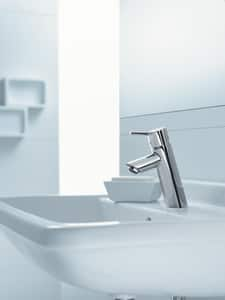 Hansgrohe Talis S Single Handle Monoblock Bathroom Sink Faucet in Polished Chrome H32040001