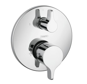 Hansgrohe S/E Thermostatic Trim with Volume Control and Diverter in Polished Chrome H04353000