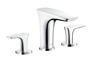 Hansgrohe PuraVida Two Handle Widespread Bathroom Sink Faucet in Polished Chrome H15073001