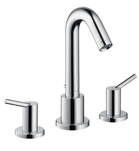 Hansgrohe Talis S 3-Hole Roman Tub Filler Faucet with Double Lever Handle in Polished Chrome H32313001