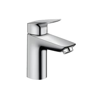Hansgrohe Logis Single Handle Monoblock Bathroom Sink Faucet in Polished Chrome H71100001