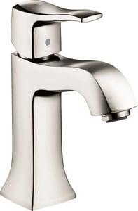 Hansgrohe Metris C Single Handle Bathroom Sink Faucet in Polished Nickel H31077831