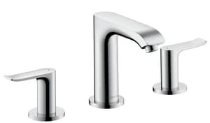Hansgrohe Metris Two Handle Widespread Bathroom Sink Faucet in Polished Chrome H31083