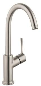 Hansgrohe Talis S Single Handle Monoblock Bathroom Sink Faucet in Brushed Nickel H32082821