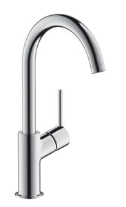 Hansgrohe Talis S Single Handle Monoblock Bathroom Sink Faucet in Polished Chrome H32082001