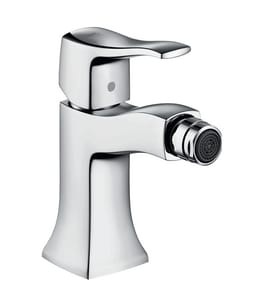 Hansgrohe Metris C 1-Hole Bidet Faucet with Pop-Up Drain Assembly and Single Lever Handle in Polished Chrome H31275