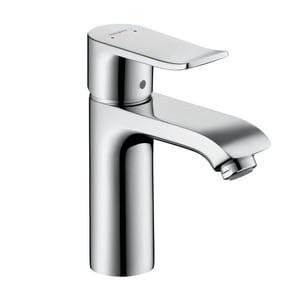 Hansgrohe Metris Single Handle Monoblock Bathroom Sink Faucet in Polished Chrome H31121001