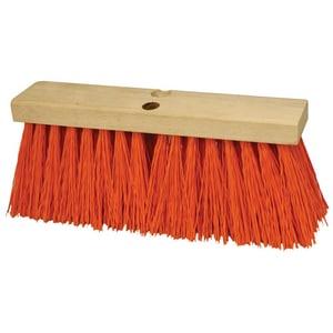 Kraft Tool Company 16 in. Heavy Duty Sweeping Broom Head in Orange KCC26401