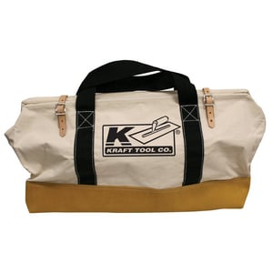 Kraft Tool Company 24 in. Leather Bottom Bag with Nylon Handle KWL224