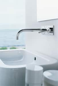 AXOR Uno Wall Mount Bathroom Sink Faucet with Single Lever Handle in Polished Chrome AX38117001