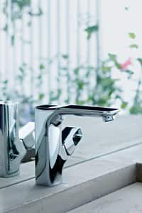 AXOR Urquiola Two Handle Centerset Bathroom Sink Faucet in Polished Chrome AX11024001