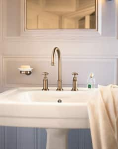 AXOR Montreux Widespread Bathroom Sink Faucet in Polished Chrome AX16513001