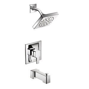 Moen 90 Degree™ Single Handle Single Function Bathtub and Shower Faucet in Polished Chrome (Trim Only) MTS2713