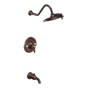 Moen Weymouth™ Single Handle Dual Function Bathtub & Shower Faucet in Oil Rubbed Bronze (Trim Only) MTS32104ORB