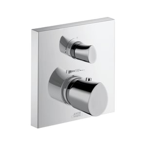 AXOR Starck Organic Thermostatic Valve with Volume Control and Diverter in Polished Chrome AX12716001