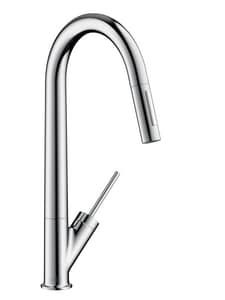 AXOR Starck Single Handle Pull Down Kitchen Faucet in Polished Chrome AX10821001