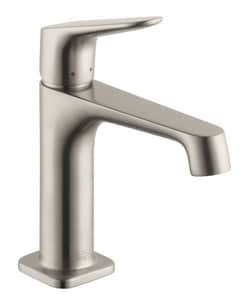 AXOR Citterio M Single Handle Monoblock Bathroom Sink Faucet in Brushed Nickel AX34010821