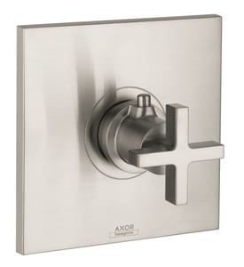 AXOR Citterio Thermostatic Trim with Single Cross Handle in Brushed Nickel AX39716821