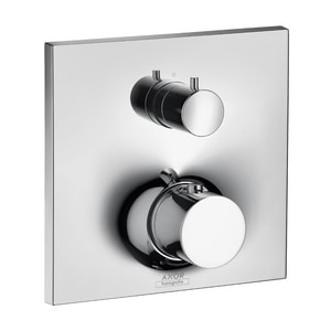 AXOR Massaud 8 gpm Thermostatic Valve Trim with Diverter and Double Knob Handle in Polished Chrome AX18750001