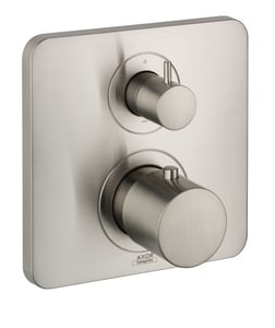 AXOR Citterio M 7 gpm Thermostatic Trim with Volume Control Trim and Double Knob Handle in Brushed Nickel AX34725821